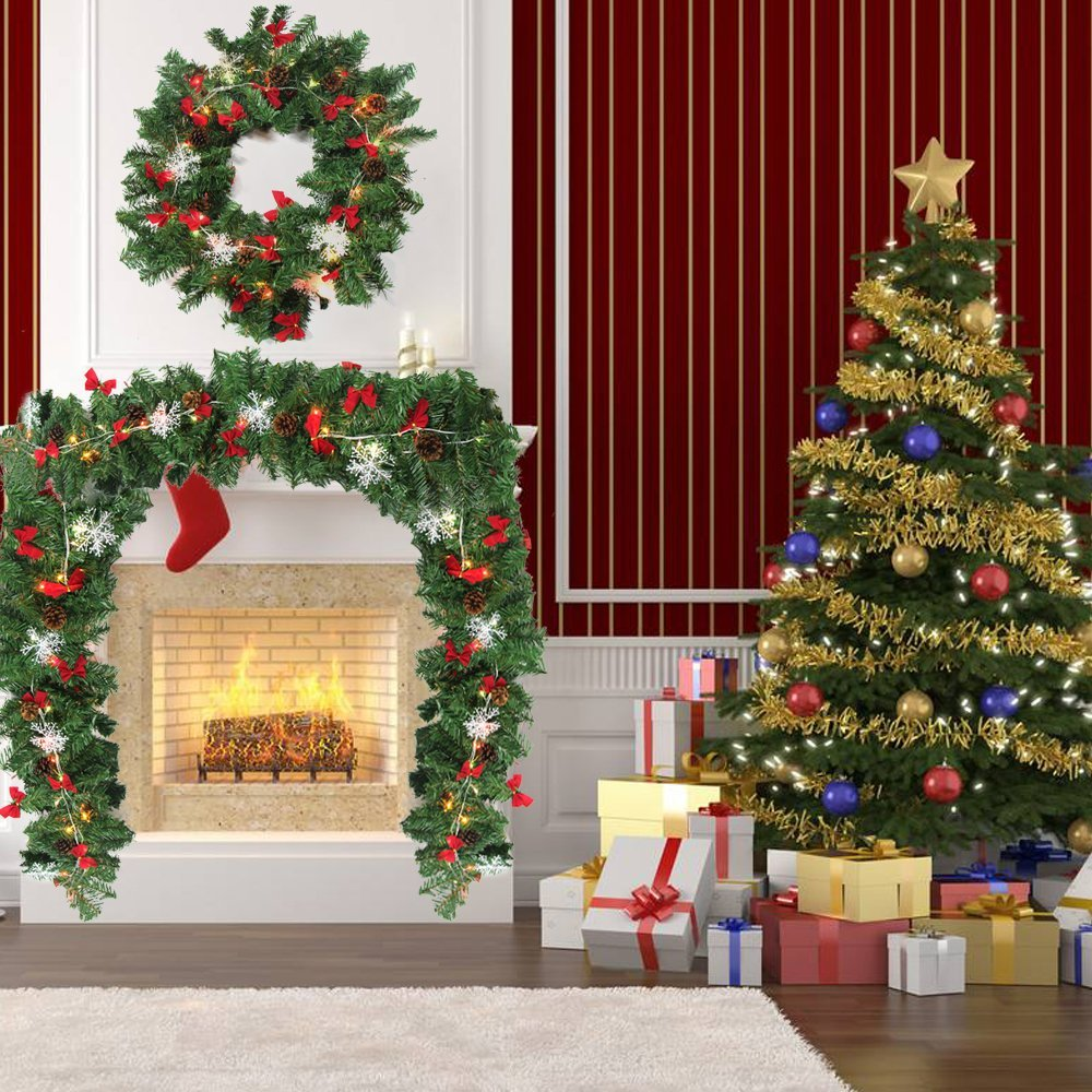 Ways to use garland fireplace