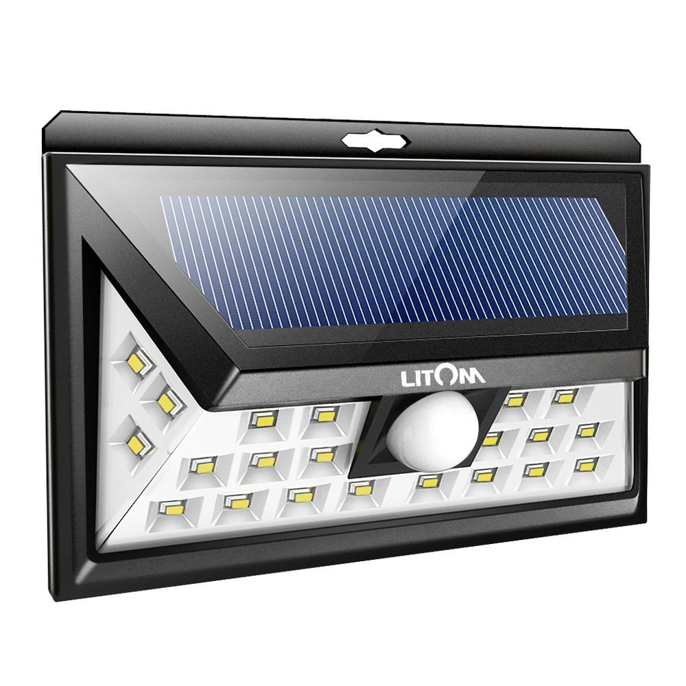Outdoor home security lights solar