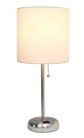 Bedside Lamp with USB Port metal base