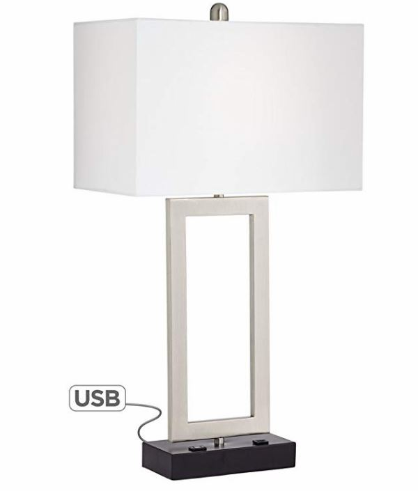 Table Lamp with USB Port and Outlet